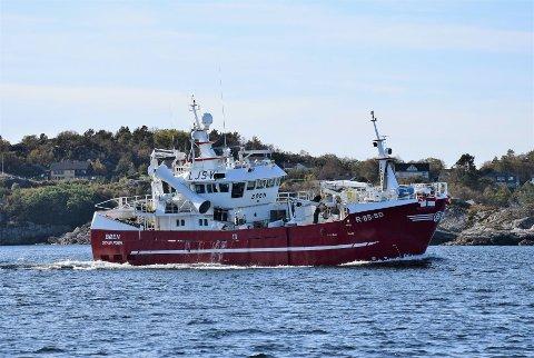 """NOTBÅT: """"Bøen"""" som er nå kjøpt av Kransvik AS er en ren notbåt. Båten heter nå """"Kransvik Jr""""."""