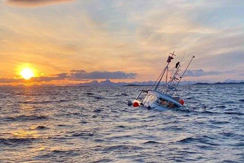SANK: Båten gikk ned utenfor Nordskot.