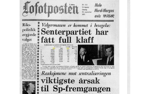 Full klaff: Senterpartiet gjorde et godt valg for femti år siden, også den gang var sentralisering et tema i valgkampen.