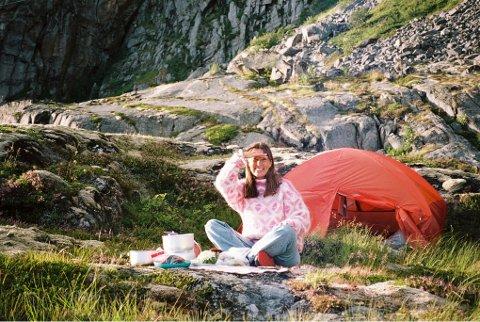 Kamilla Nygård på tur.