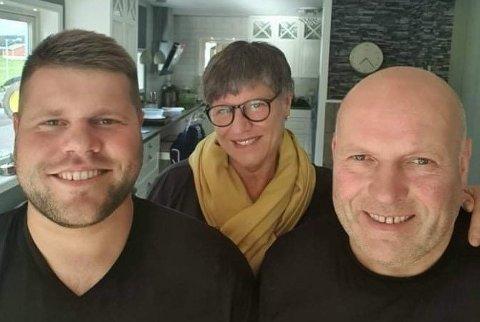 Sebastian Muth-Johansen, Karin Muth-Johansen og Arild Johansen.