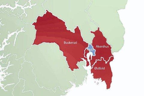 Region Viken. (Foto: Illustrasjon: Romerikes Blad)