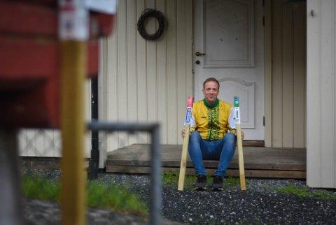 HELT OK: Erik Rytter Jakobsen er leder for Stolpejakten i mossedistriktet for Orienteringsklubben Moss. Etter et rekordår i 2020, har interessen i befolkningen bare fortsatt å øke.