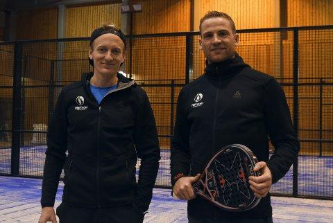 EIERE: Daniel Myrmæl Helgestad og Niklas Dyrhaug er to av fire eigere som åpner opp Hit Padel Trondheim.