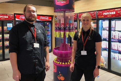 ENDELIG: Anders Aaserud og Helene Andresen er glade for å være tilbake på jobb.