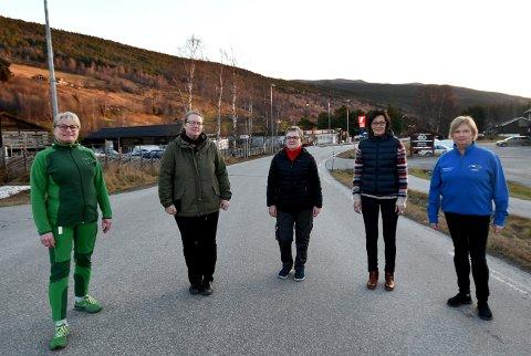 Grethe Lyen (Kiwi Heidal), Benita Fugleslåen (Otta Treprodukter), Randi Martinsen (Coop Marked Heidal), Else Gunn Kleiven (Blomsterloftet) og Ann Kristin Skafløtten (Motorsenteret Heidal).