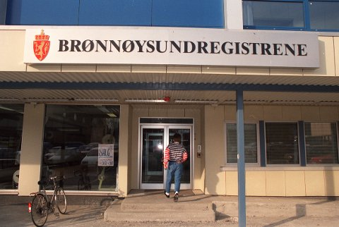 Brønnøysund 199104: Brønnøysundregistrene.  23385/1 NTB arkivfoto: Arnt Ragnar Arntsen / SCANPIX