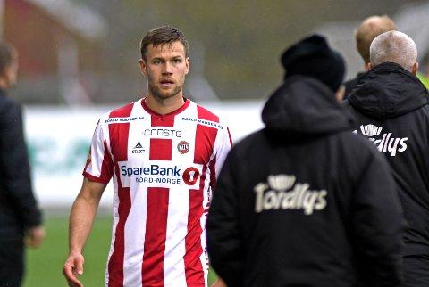 UTVIST: Anders Jenssen ble trolig feilaktig utvist i kveldens kamp.