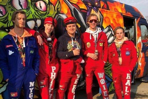 NY PRIS: : Zurg-gjengen kunne juble over Lillehammer-pris. Her fra russetreffet i Halden i april. Arkivbilde