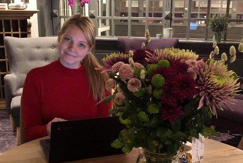 NY PLATTING: Anneli Nurk vil ta imot gjester på en splitter ny uteservering 17. mai.