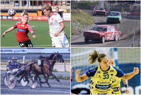 BREDT TILBUD: I helga kan du se både fotball, trav, bilcross og håndball på OA-TV.