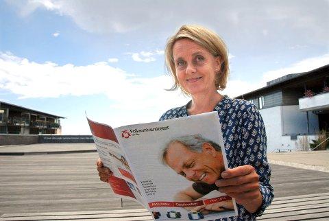 Nye muligheter: Marianne A. Irgens er klar med et nytt kulturprogram fra Folkeuniversitetet. Denne gang med mange navn som kommer fra Larvik.arkivfoto