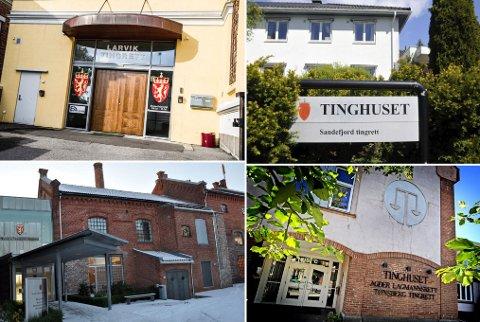SAMMENSLÅING: Dagens fire tingretter i Vestfold har blitt enige om å slå seg sammen til én.
