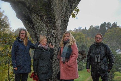 KRITISKE: WWF,  Venstre og Naturvernforbundet stiller seg kritiske til planutvalgets vedtak. Fra venstre: Trude Myhre, Magdalena Lindtvedt, Kari-Lise Rørvik og Anders Mæland.