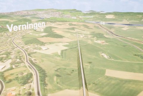 ALTERNATIVT FORSLAG: I den nye videoen kan du følge den foreslåtte traseen fra Sandefjord-grensa og gjennom Larvik.