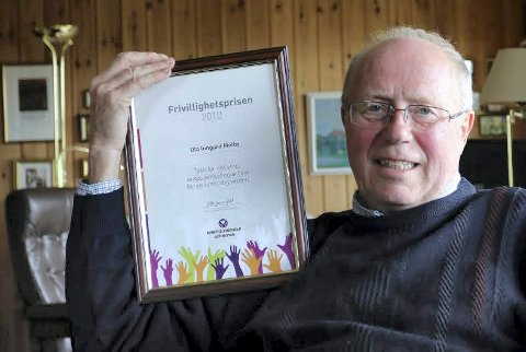 DEN FØRSTE: Ola Inngard Melby er den første som fikk  Kirkens Nødhjelps Frivillighetspris