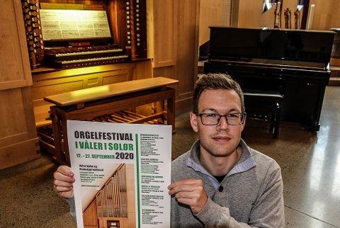 BRA PROGRAM: Kantor i Våler, Daniel Bjørlo, lover en orgelfestival med et spennende program med mange musikere og sangere.
