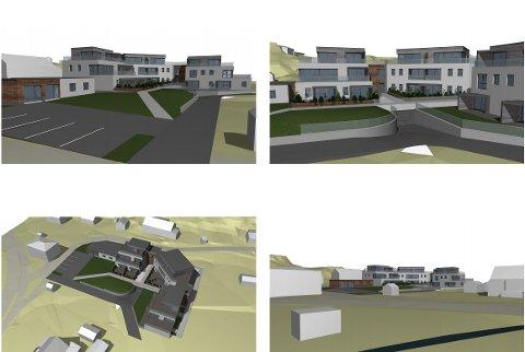 Moderne utseende er stikkord for de nye leilighetene som nå planlegges der gamle Hvasser skole står nå.