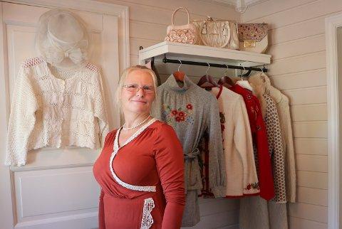 NOSTAGI: Anne Sigrid Skjelin har sansen for det gamle og brukte. Det gjenspeiler seg i hjemmet hennes.