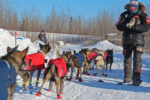 Her ser vi Joar Leifseth Ulsom i aksjon under Iditarod i mars i år der han ble nummer seks til slutt. Med 7. og 4. plass i de to første løpene, er han den første nordmann som har tre plasseringer blant de ti beste i sine tre første løp.
