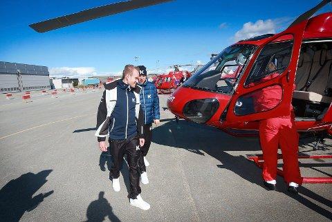Arctic Race. Alexander Kristoff i Bodø. På Flyplassen på tur til Landego med helikopter.
