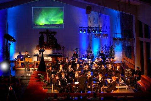 Stemning: Gruben Musikkorps ser fram til en stemningsfull korpskonsert.