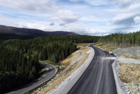 Torsdag flyttes trafikken fra gammel til ny E6 i Grane kommune. Foto: Marius S. Staulen