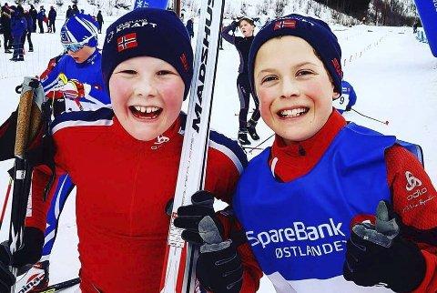 Dobbeltseier: Erik Leiråmo og Oscar Røberg tok dobbeltseier i hoppbakken og i kombinert. Foto: Privat