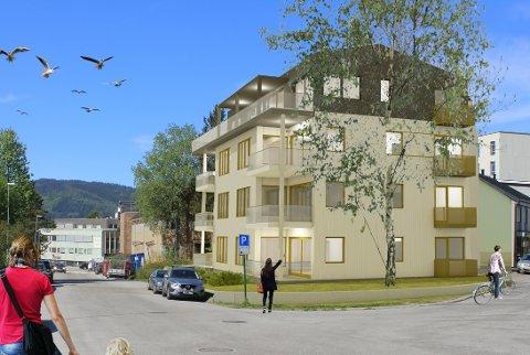 Her i krysset mellom Thomas von Westens gate og Petter Dass gate, vil det bli et leilighetsbygg med åtte boenheter. Illustrasjon: Norconsult