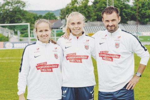 TALENT: Jennie Andersen (16) brukte deler av sommerferien på talentleir i Porsgrunn sammen med jevnaldrene fra 14-16 år.