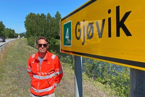 STILLER: Jon Rabben Lundby jobbet tidligere med riksvei 4. Nå er det riksvei 19 som gjelder.