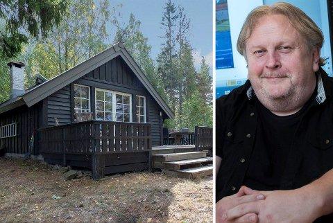 HYTTEEIER: Erik Stokke (innfelt) kjøpte hytteeiendommen på Ulvøya i Steinsfjorden av John Gunnar Jakobsen.