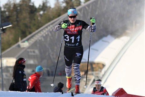 GIKK FORT I KOLLEN: Vera Flatland gikk fort og sikret seg nye norgescuppoeng i det første norgescuprennet i Holmenkollen.