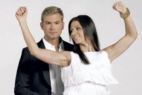 Danseklare: Christopher Mørch Husby danset cha cha cha med dansepartner Maria Sandvik lørdag. Foto: TV 2