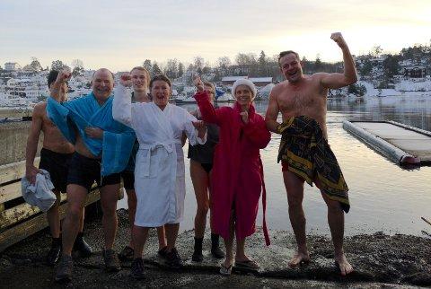 Fra venstre: Thor Angvik, Sigmund Lockert, Fridtjof Norlen, Camilla Norlen, Aud Nina Dalseide, Linn Krogh Hansen og Fredrik Tischbein.