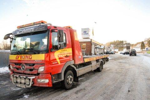 MANGE OPPDRAG: Hos Bilberging Vestfold har oppdragene strømmet inn mandag. Bildet er tatt forrige vinter.
