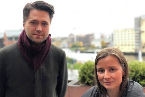 VIL BEVARE: – Vi kan ikke sitte og se på at viktige samfunnsfunksjoner ved Sandefjord VGS skal forsvinne, sier fylkestingsrepresentantene Karoline Aarvold (H) og Bjørn-Kristian Svendsrud (FrP).