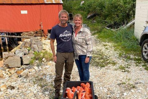 REISTE I 33 TIMER: Sandefjordingene André Lea og Heidi Granerød Lea fikk en lengre hjemreise enn antatt denne uken.