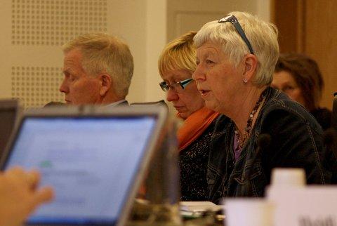TOMMEL NED: Flertallet av formannskapet stemte mot at Sandnes bidrar med fem kroner per innbygger til PET-skanner ved Stavanger universitetssykehus. Signe Nijkamp (KrF) var én av dem som stemte mot. Olav Birkeland (H) til venstre i bildet var bekymret over signaleffekten vedtaket sender.