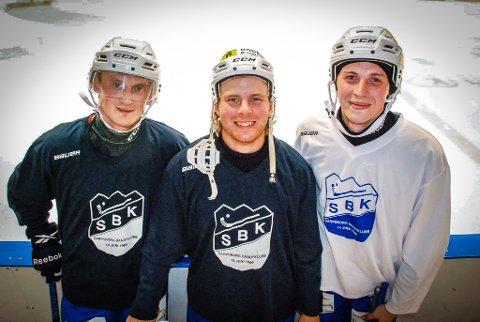 VIL GJØRE SARPSBORG TIL ET TOPPLAG: Nykommerne Ivan Fedorkov (til venstre) og Alexei Popov (til høyre) vil gjøre SBK til et topplag sammen med Anders Olsson (i midten).