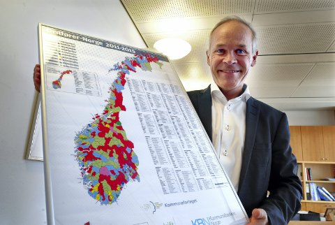 ENDRER: Kommunekartet ser snart helt annerledes ut  Arkivfoto: Terje Pedersen, ANB