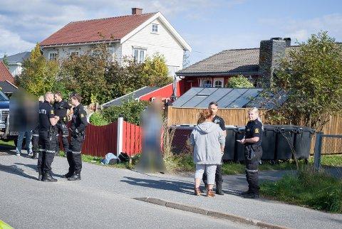 HER SKJEDDE DET: Her, i Finstadveien i Ski, var det onsdag ettermiddag et slagsmål med to personer involvert.