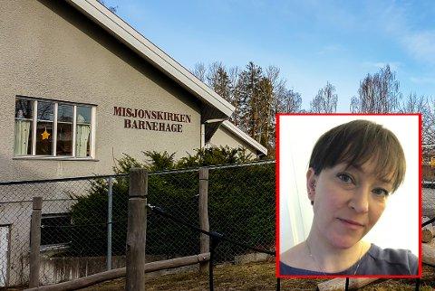 SKRYT: Guro Glomvik (36) mener barnehagen får foresatte til å føle seg trygge i en ellers vanskelig situasjon.