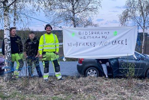 Eidsberg og Hærland Bygdeungdomslag aksjonerte natt til fredag 14.mai.