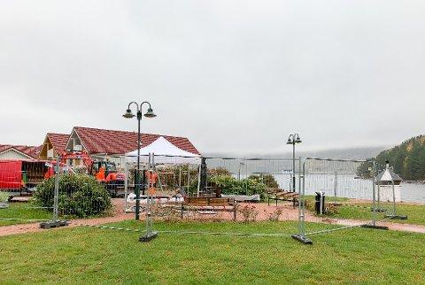 Lallaparken får en oppgradering med blant annet et nytt lekeapparat og ny beplantning.