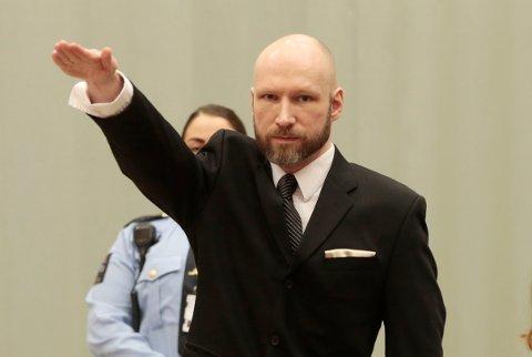 SKIEN  20170110. Ankesaken til Anders Behring Breivik mot staten. Anders Behring Breivik har saksøkt staten for brudd på menneskerettighetene på grunn av soningsforholdene. Ankesaken starter i Skien fengsel tirsdag. Foto: Lise Åserud / NTB scanpix