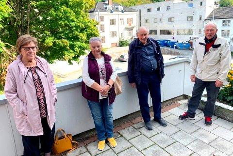 TIDLIG UTE: Eldrerådet i Skien ser allerede fram mot 2021 og har en rekke forslag. Fra venstre: Einfrid Halvorsen, Gerd Andersen, Ivar Kristensen og Torbjørn Steinhaug.