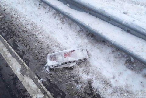 LÅ IGJEN: Denne lå igjen på ulykkesplassen.