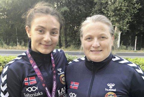 Mor og datter: Othelie og Gudrun Høie.