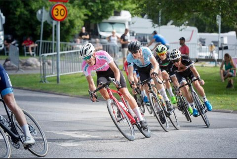 Eirik Vang Aas (i rosa) gikk til topps i U6.